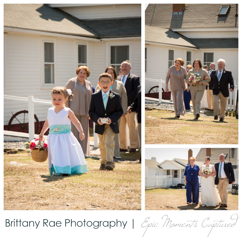 Kennebunkport Wedding | Pemaquid Light Wedding - flower girl and ring bearer