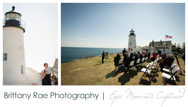 Kennebunkport Wedding | Pemaquid Light Wedding - outdoor lighthouse ceremony