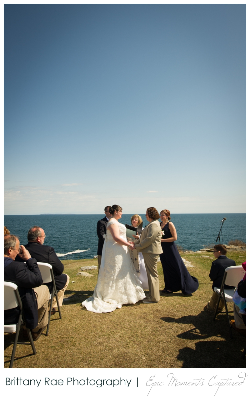 Kennebunkport Wedding | Pemaquid Light Wedding - ceremony outdoors on the ocean