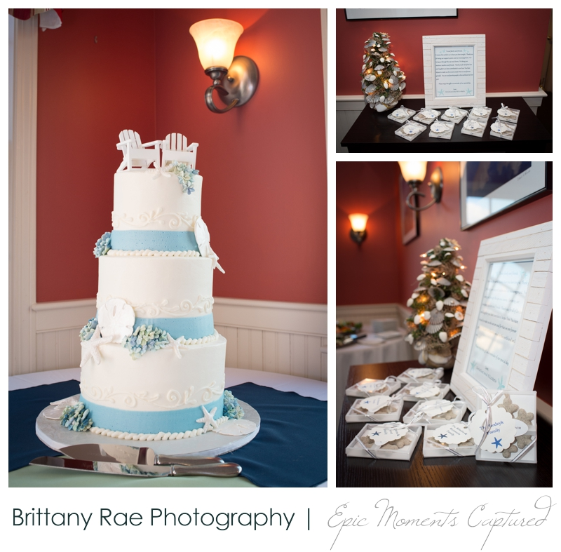 Kennebunkport Wedding | Pemaquid Light Wedding - beach themed cake and favors