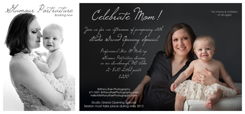 Maine Glamour Photography, Mothers Day Portrait Special