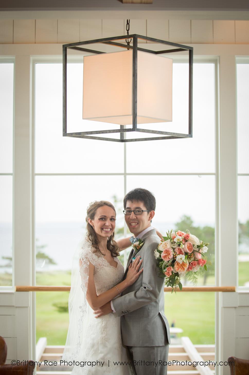 Samoset Resort Wedding Photos 1 - Couples portrait in the Lighthouse Room