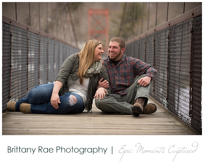 Brunswick Engagement Photos 5 - Swinging Bridge Brunswick