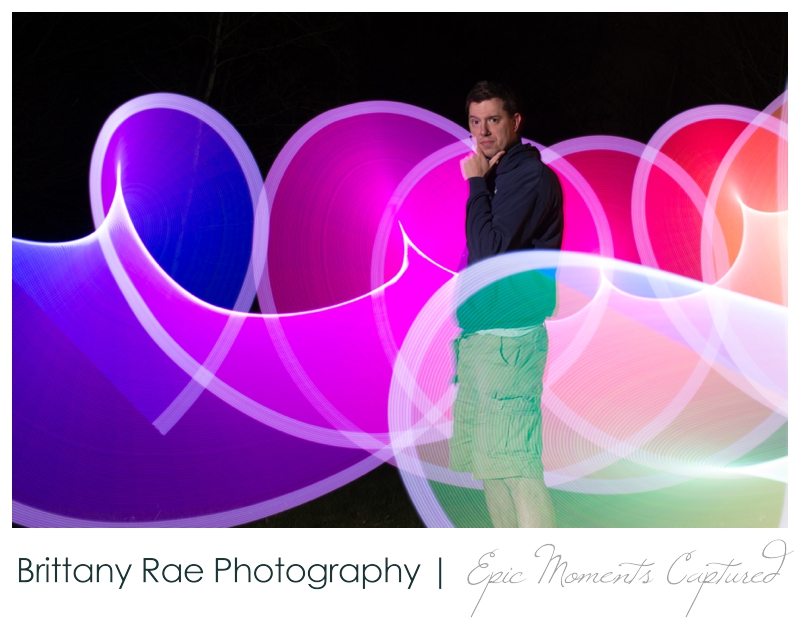 Light Painting at Old Orchard Beach Maine - night time portraits