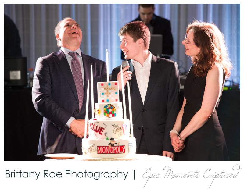 Belmont Country Club Bar Mitzvah - mitzvah boy with cake