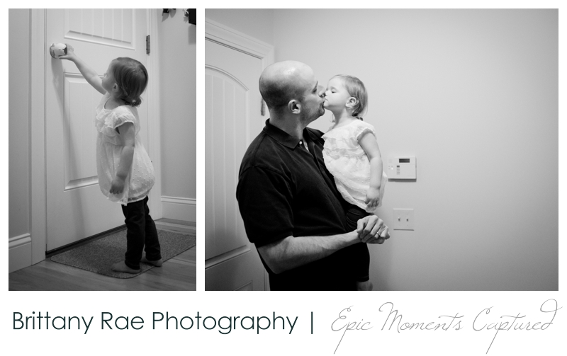 Family Lifestyle Photos in Biddeford Maine - Dad coming home
