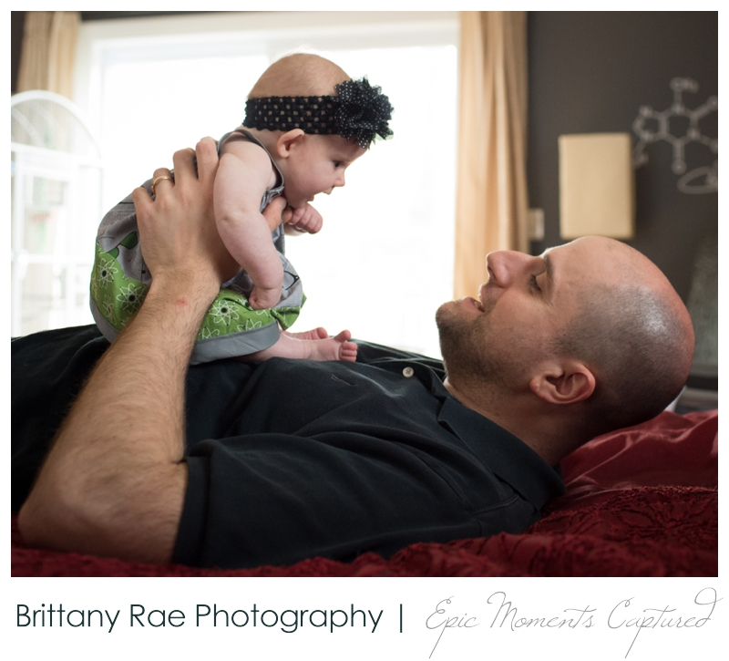 Family Lifestyle Photos in Biddeford Maine - Dad with baby