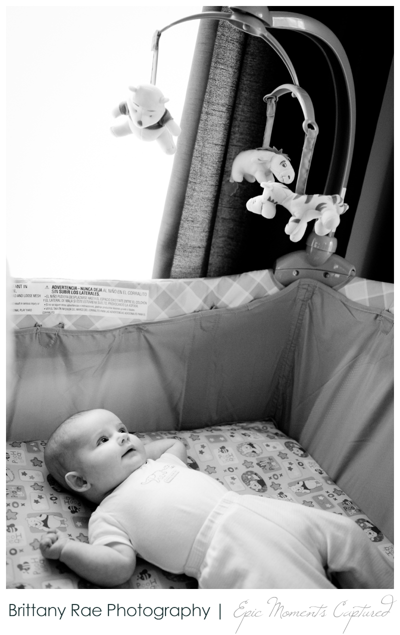 Family Lifestyle Photos in Biddeford Maine - Baby in crib