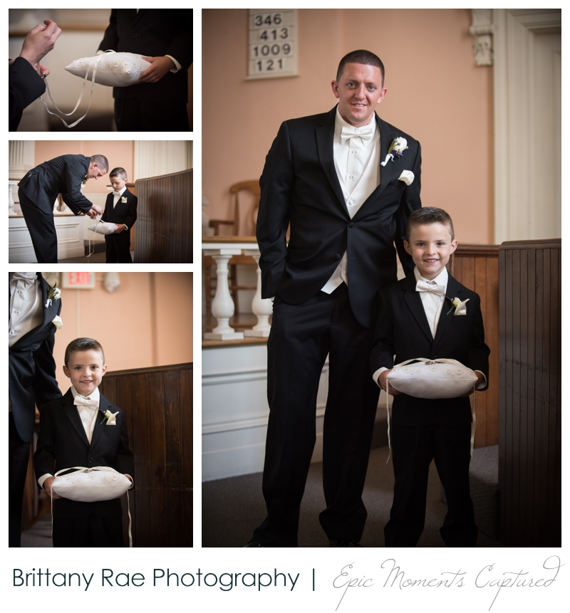 Sheraton Harborside Wedding in Portsmouth NH - groom and ring bearer
