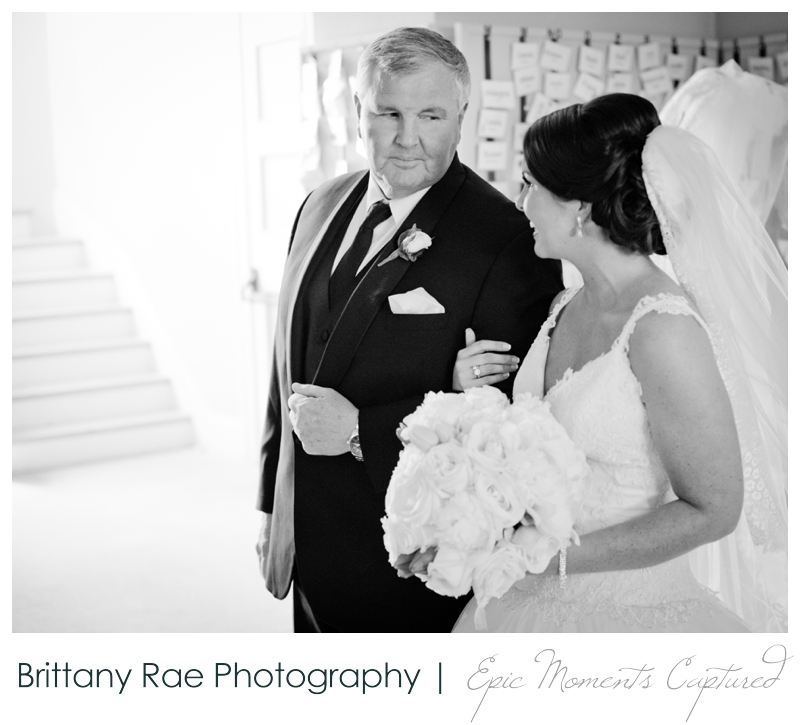 Sheraton Harborside Wedding in Portsmouth NH - Dad and bride before ceremony