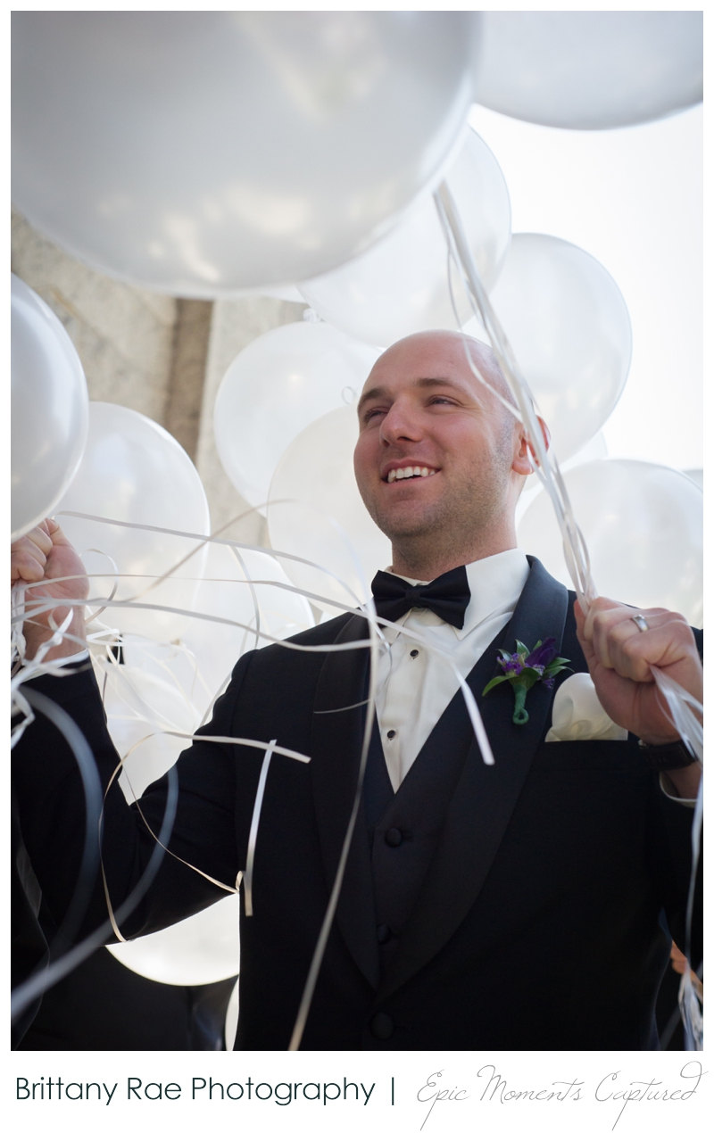 Sheraton Harborside Wedding in Portsmouth NH - Balloon Exit