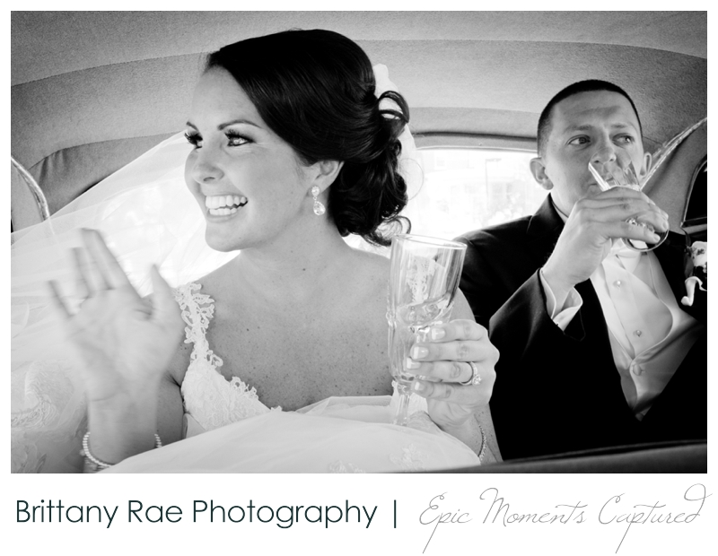 Sheraton Harborside Wedding in Portsmouth NH - Bride and Groom grand exit