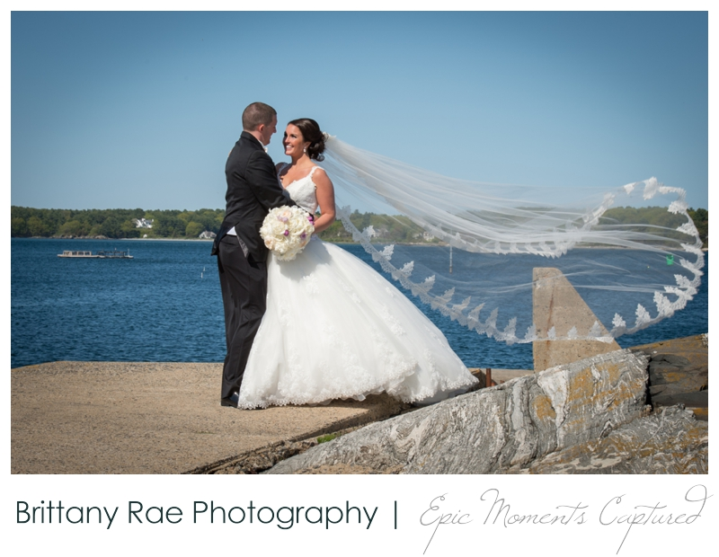 Sheraton Harborside Wedding in Portsmouth NH - Bride and Groom Beach Portraits