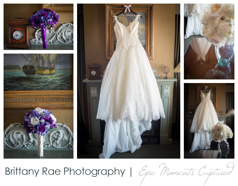 Sheraton Harborside Wedding in Portsmouth NH - flowers and wedding dress