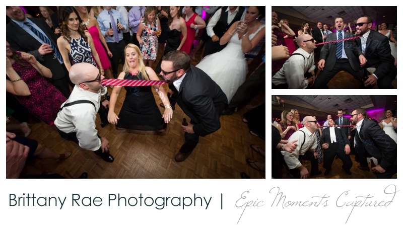 Sheraton Harborside Wedding in Portsmouth NH - Tie Limbo at Reception