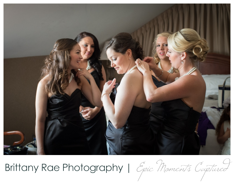 Sheraton Harborside Wedding in Portsmouth NH - bridesmaids getting dressed