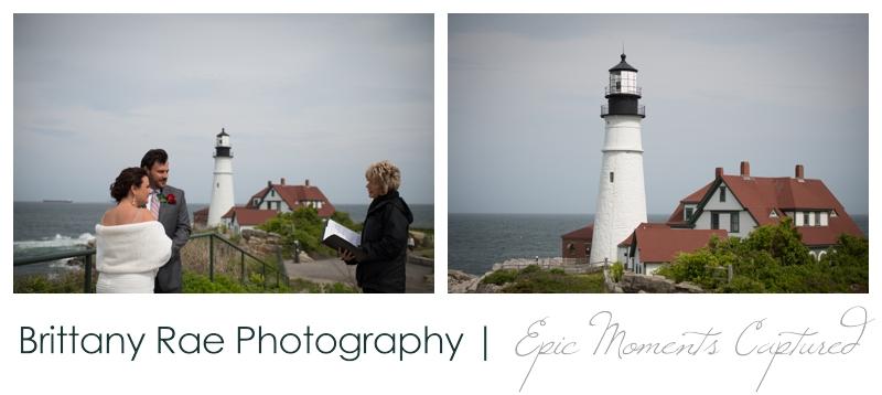 Portland Headlight wedding photos - wedding ceremony at lighthouse