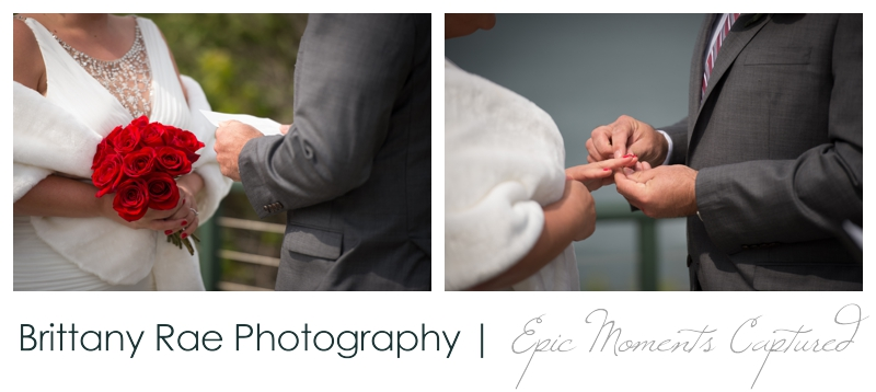 Portland Headlight wedding photos - details of hands during ceremony
