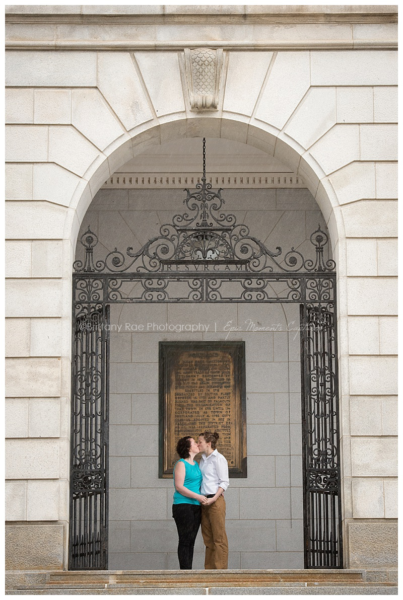 Portland City Hall Engagement - Outside City hall Portraits