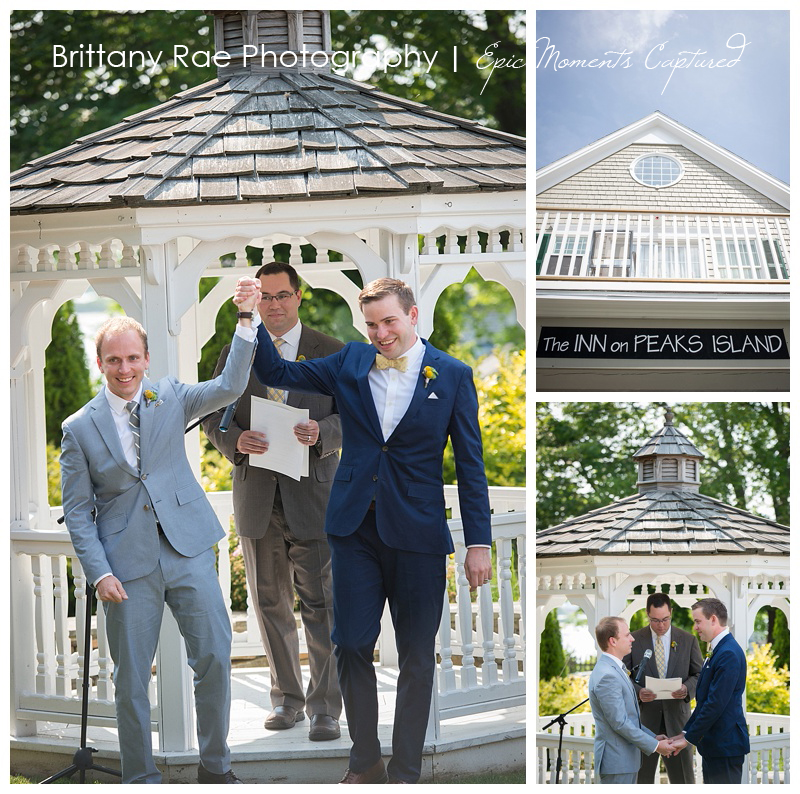 Inn on Peaks Island Wedding Photos - Two Groom Ceremony