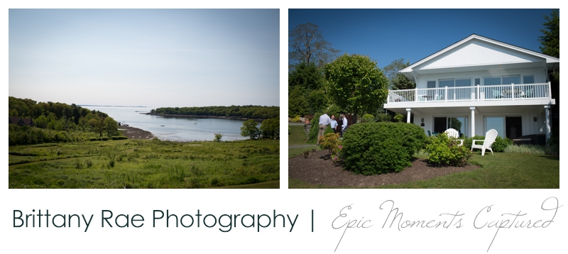 Backyard Wedding in Camden Maine -  Camden Wedding view