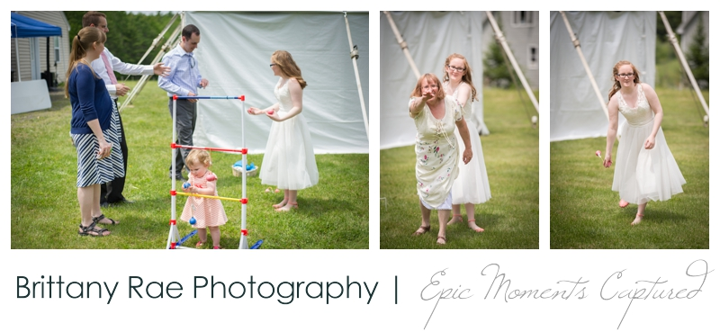 Backyard Wedding in Camden Maine -  Wedding Ladderball yard games