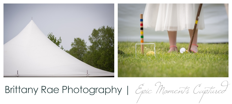 Backyard Wedding in Camden Maine -  Wedding lawn games croquette