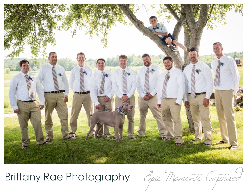 Zach's Farm Wedding Photos | York Maine - Groomsmen Portraits