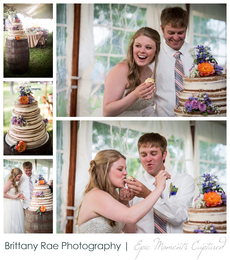 Zach's Farm Wedding Photos | York Maine - Naked Wedding cake