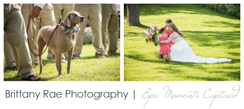 Zach's Farm Wedding Photos | York Maine - Bride with Flowergirls