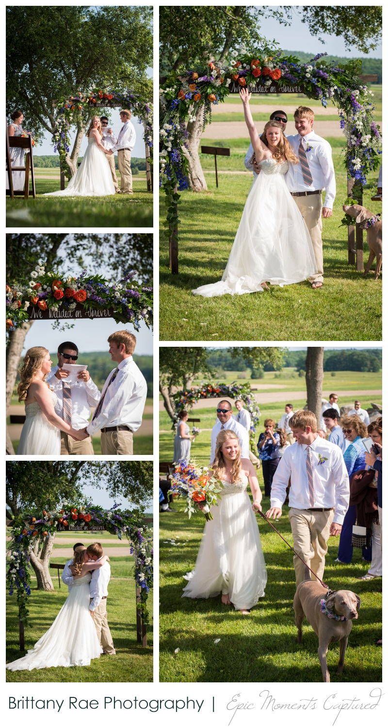 Zach's Farm Wedding Photos | York Maine - Wedding Ceremony at Farm
