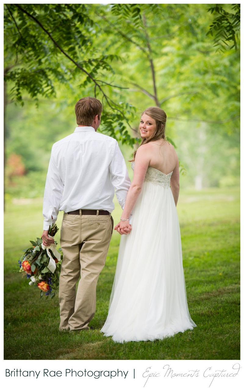 Zach's Farm Wedding Photos | York Maine - Wedding Portrait in Trees
