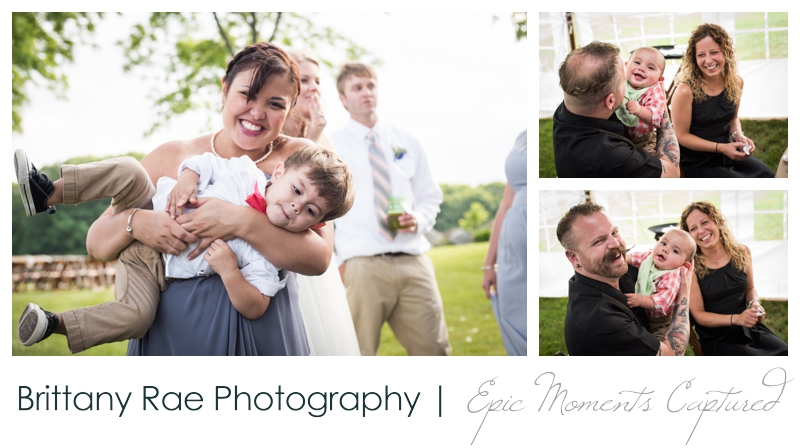 Zach's Farm Wedding Photos | York Maine - Babies at Wedding