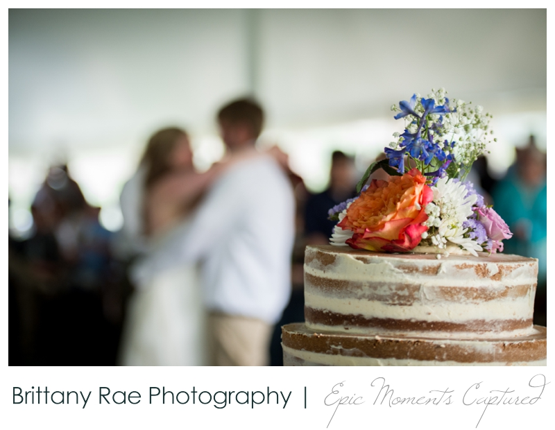 Zach's Farm Wedding Photos | York Maine - First Dance and Naked Wedding Cake