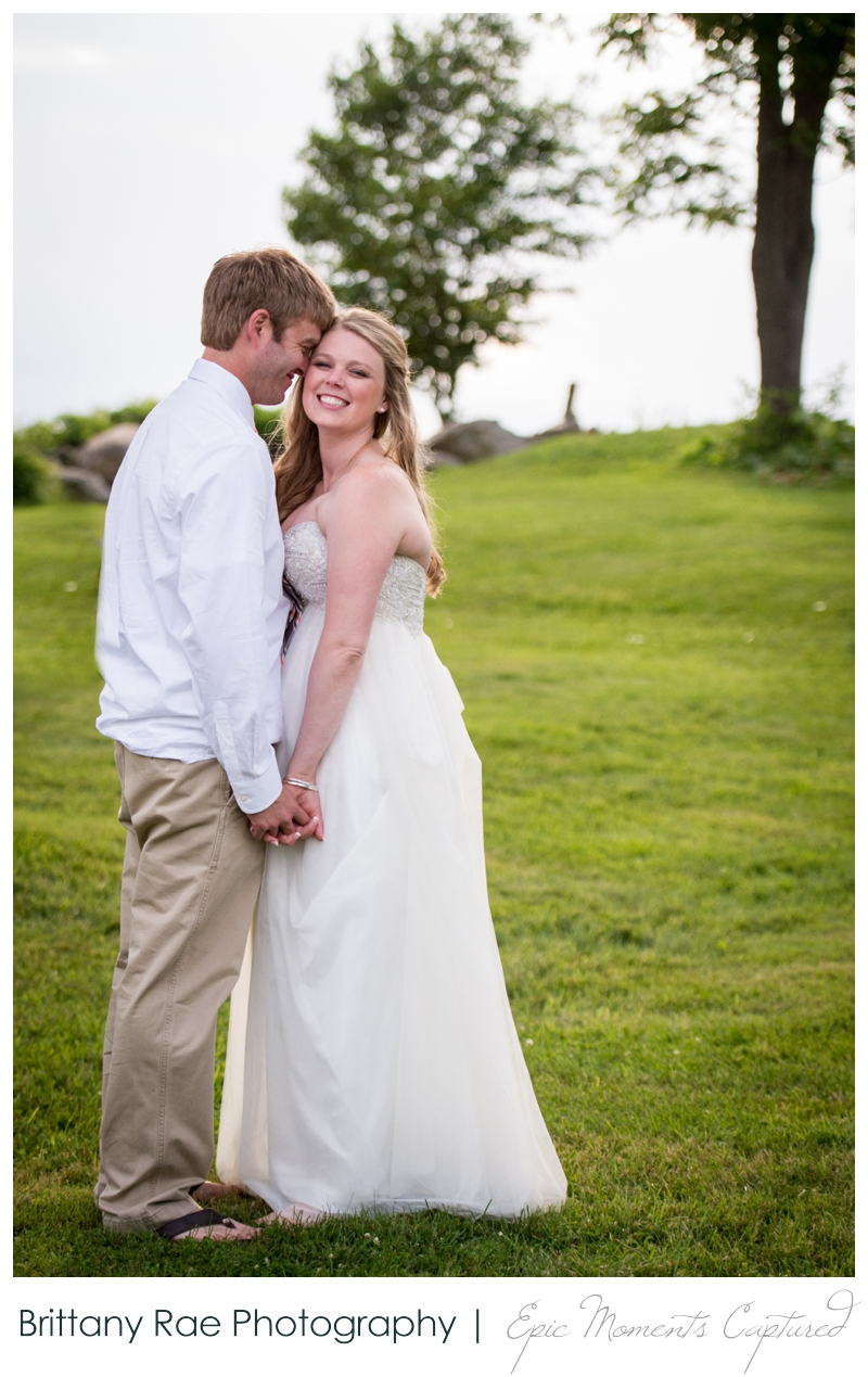 Zach's Farm Wedding Photos | York Maine - Sunset Wedding Portraits