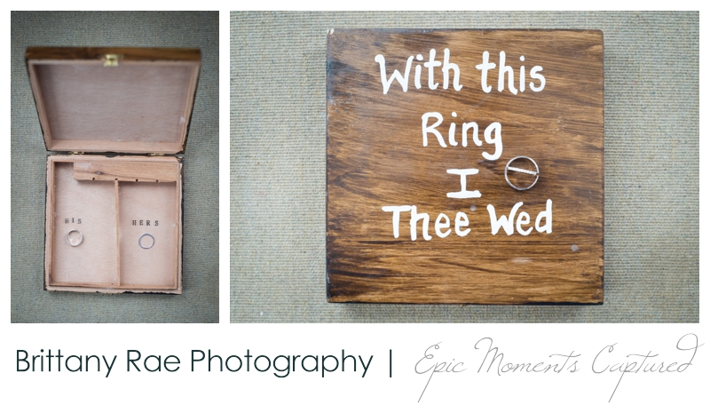Zach's Farm Wedding Photos | York Maine - rustic ring box