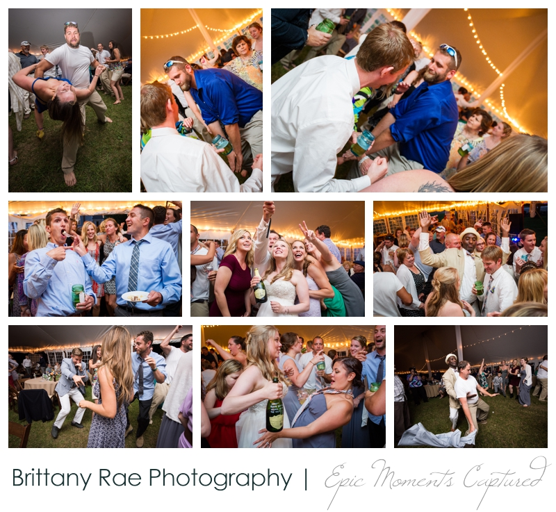 Zach's Farm Wedding Photos | York Maine - Tented Reception dancing