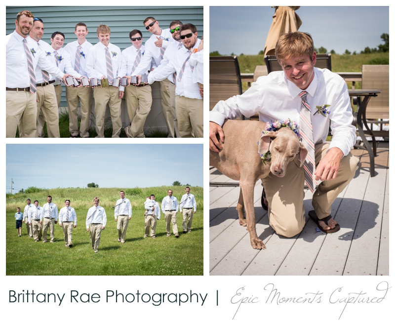 Zach's Farm Wedding Photos | York Maine - Groom with dog