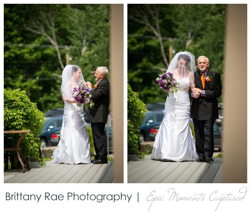 Purpoodock Wedding Photos Cape Elizabeth Maine - Bride and Dad