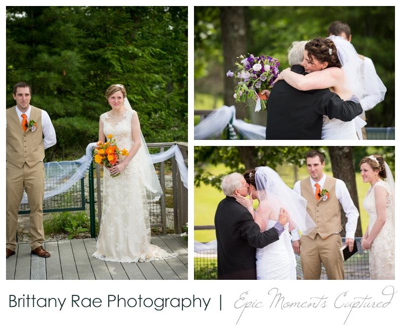 Purpoodock Wedding Photos Cape Elizabeth Maine - Brides at ceremony