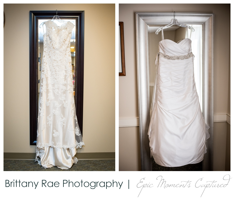 Purpoodock Wedding Photos Cape Elizabeth Maine - two wedding dresses