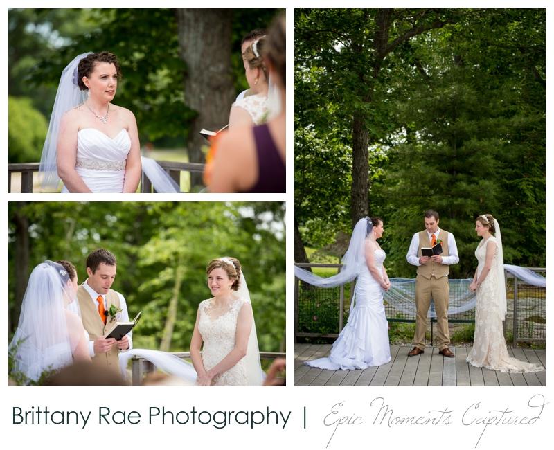 Purpoodock Wedding Photos Cape Elizabeth Maine - Brides during ceremony