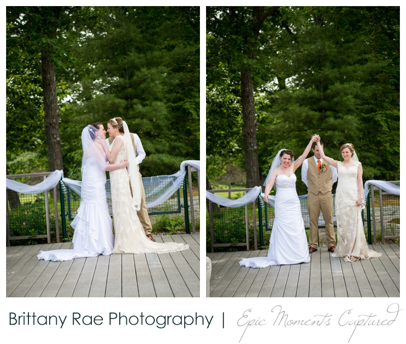 Purpoodock Wedding Photos Cape Elizabeth Maine - Brides first wedding kiss