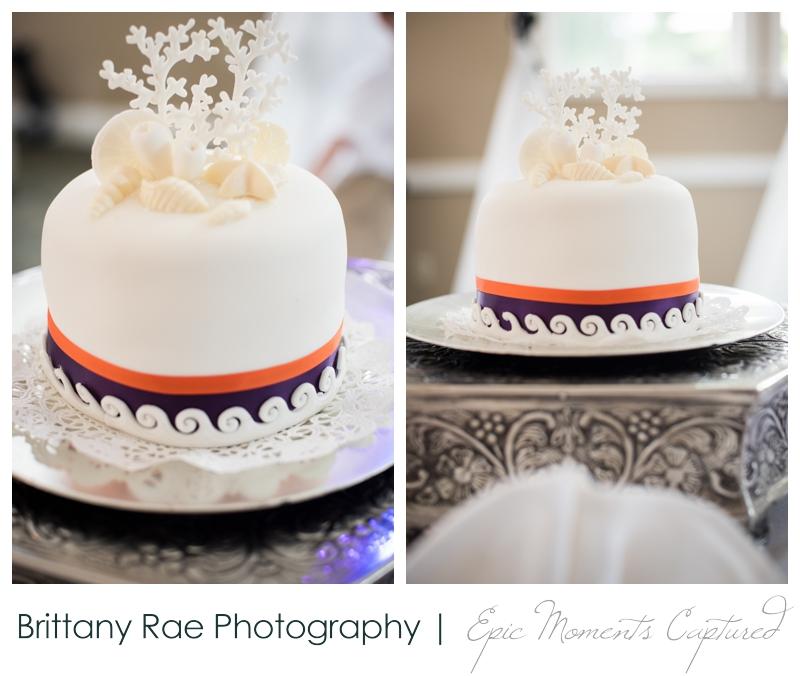 Purpoodock Wedding Photos Cape Elizabeth Maine - Purple and Orange nautical cake