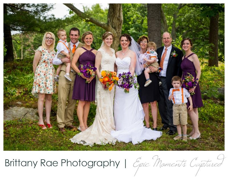 Purpoodock Wedding Photos Cape Elizabeth Maine - Two Brides Family Portraits