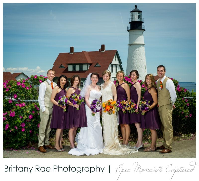 Purpoodock Wedding Photos Cape Elizabeth Maine - Two Brides at Portland Head Light