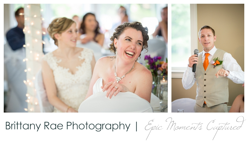 Purpoodock Wedding Photos Cape Elizabeth Maine - Toasts during wedding