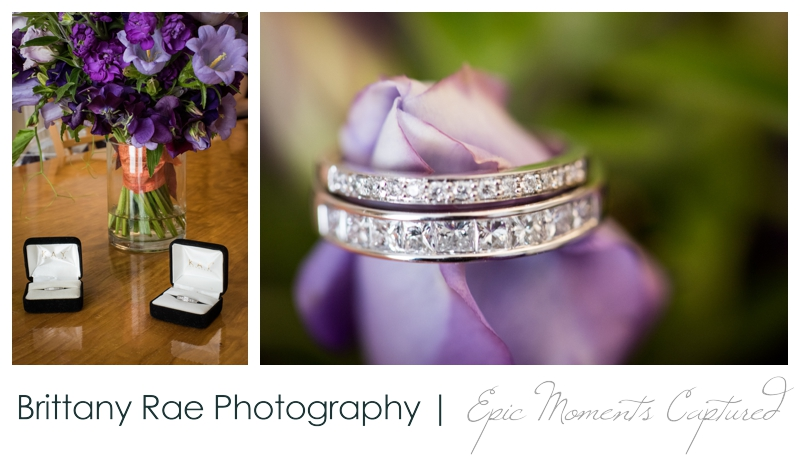 Purpoodock Wedding Photos Cape Elizabeth Maine - Wedding rings on purple flowers