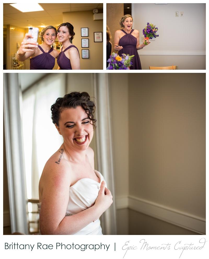 Purpoodock Wedding Photos Cape Elizabeth Maine - bride getting ready