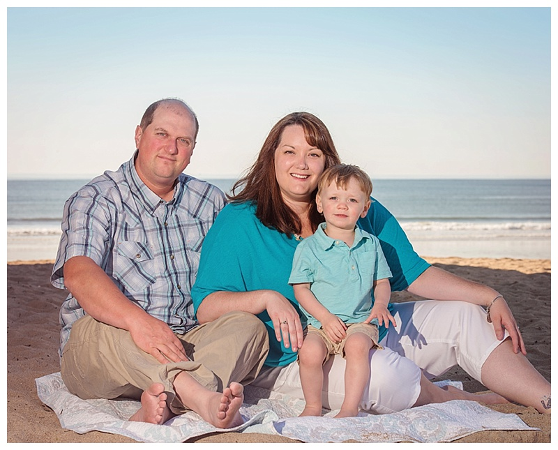 Old Orchard Beach Family Portraits - Posed beach family portraits